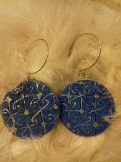 original painted earrings  goodartday.blogspot.com