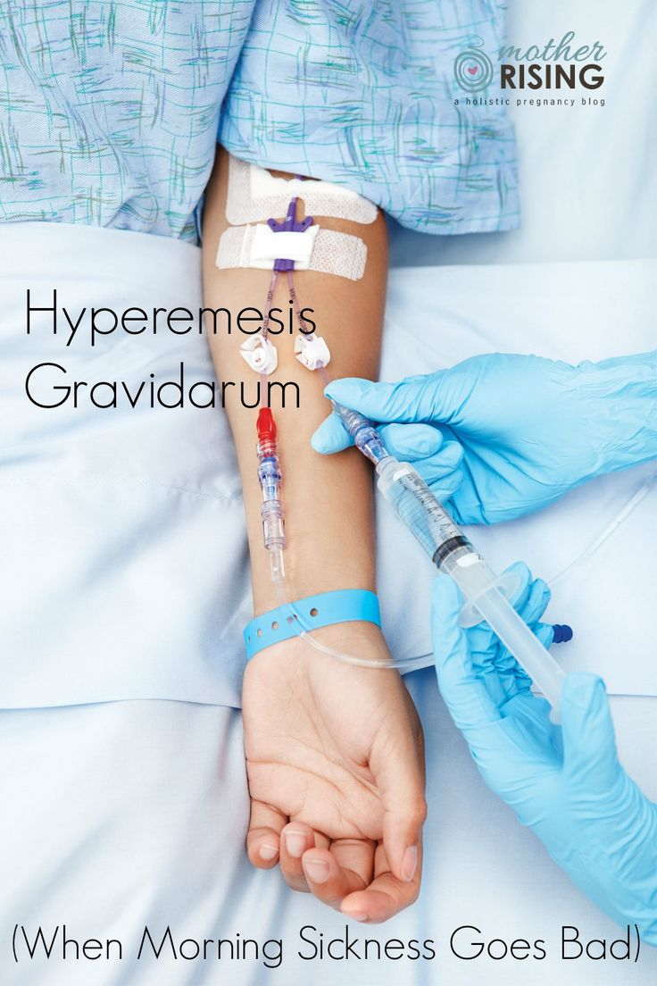 Hyperemesis gravidarum is not morning sickness. HG, as it is commonly referred to, is extreme, persistent nausea and vomiting that can lead to dehydration. If you are experiencing HG, know that what you are experiencing is real, extremely difficult, and you are not alone.