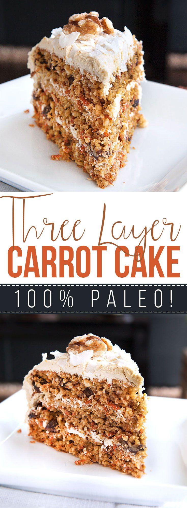 Three Layer Paleo Carrot Cake