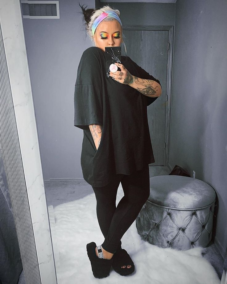 Womens Ugg 174 Fluff Yeah Slide Sandal Black In 2020 Cute