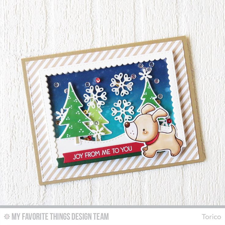 STAMPARADISE: Snowflakes Shaker Card - MFT Release Replay