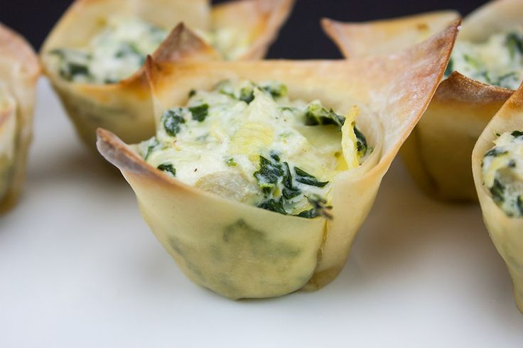 Fast & Easy Spinach Artichoke Cups - Perfect appetizer for any party!