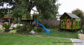 Kid friendly back yards - Hewitt - tropical - kids - other metro - by The Friendly Plant