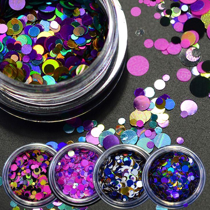 Buy 1g Hot Fashion Mixed Mini Round Thin Nail Art Glitter Paillette Nail Tip Bottle Gel Polish Decoration Manicure Tools P09-16 at JacLauren.com