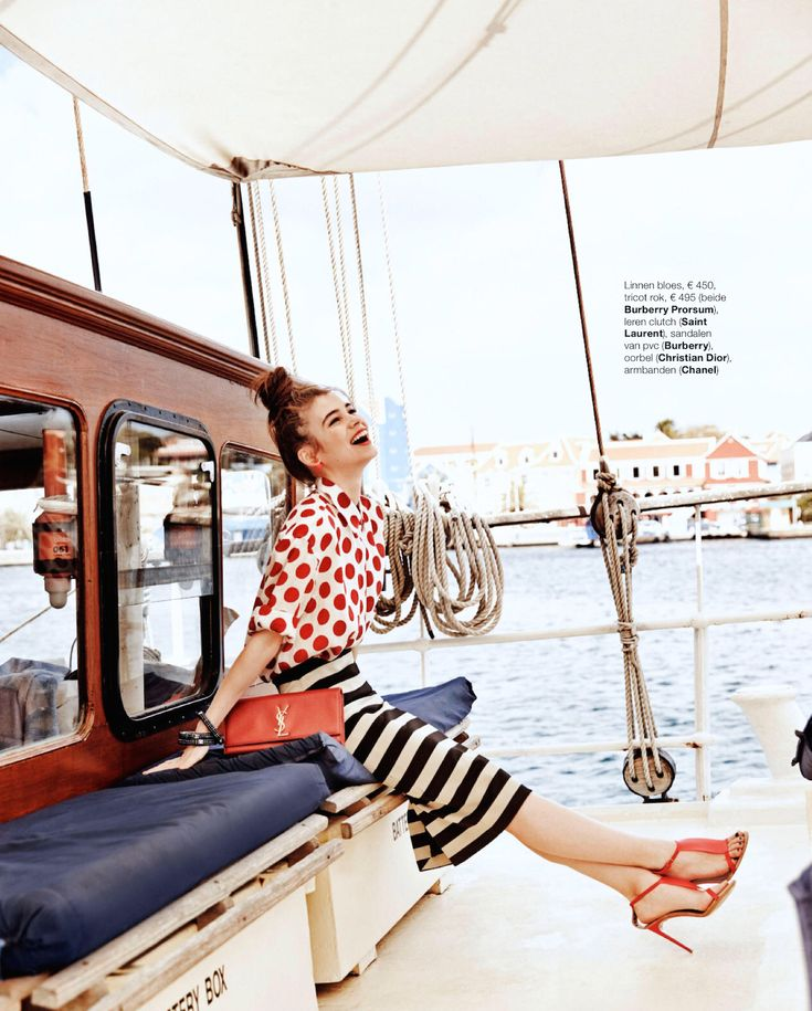 visual optimism; fashion editorials, shows, campaigns & more!: rock the boat: iulia cirstea by hans van brakel for marie claire netherlands august 2014