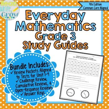 Please note: This bundle is now completely updated to the EDM 4th Edition (Common Core Aligned). You can still access the complete 3rd edition. You will receive both the 3rd and 4th editions of the study guides. Use these study guides to help your 3rd graders prepare for