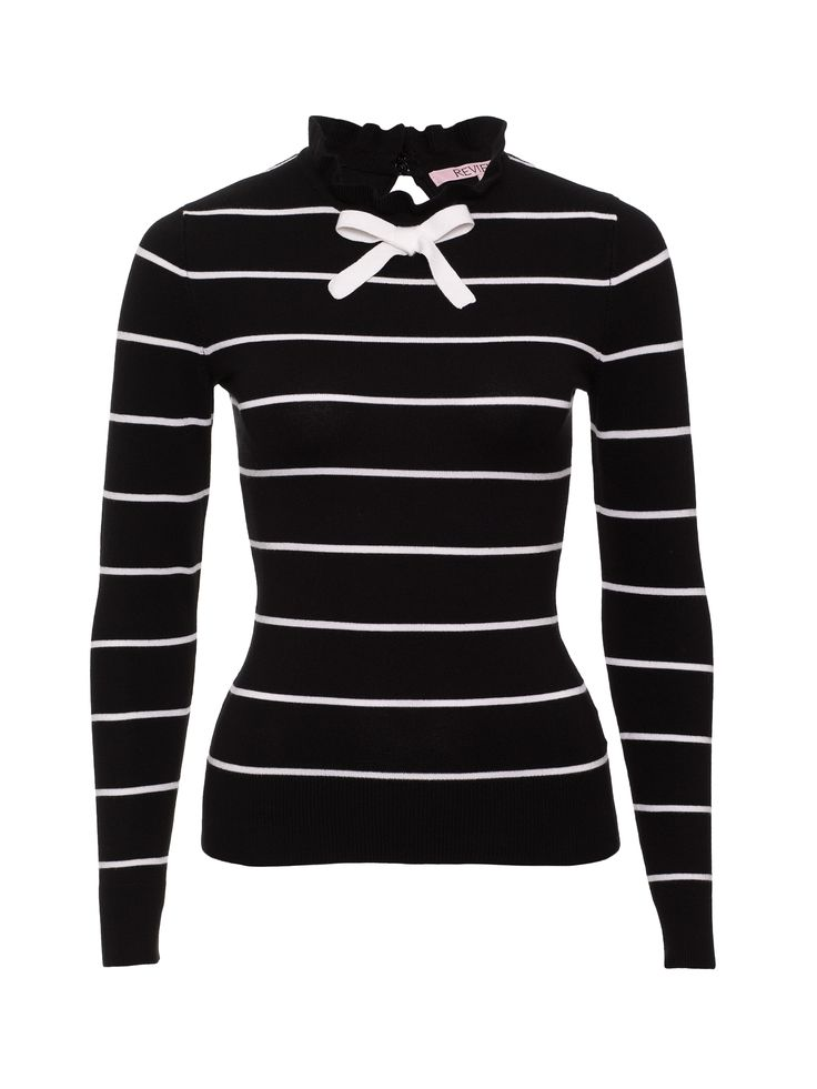 Simone Jumper | Black/Cream |Jumper
