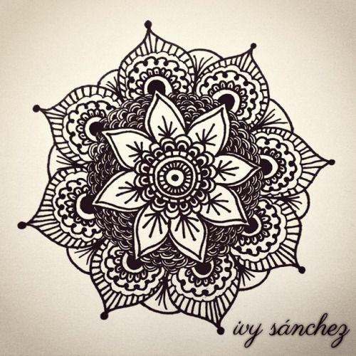 Mandala done with black ink. #art #mandala #arte #ink #drawing #artwork #design #tattoodesign #painting