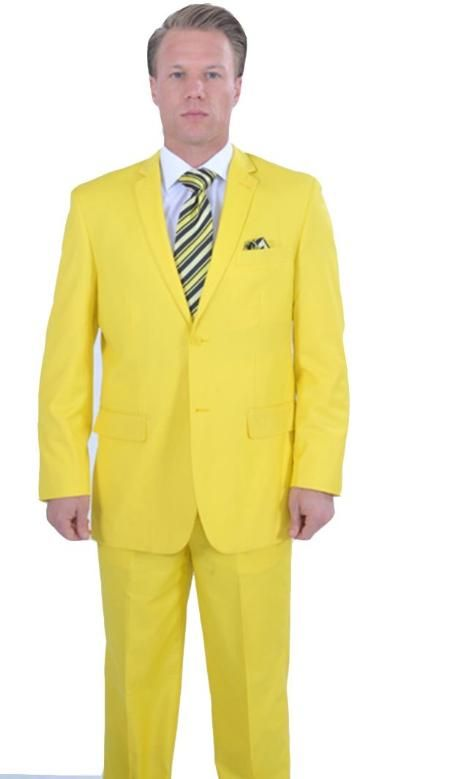 SKU#QAC123 Bright Stage Party 2 Piece affordable suit online sale - Yellow