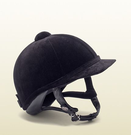velvet riding cap from #equestrian collection- Style My Ride thinks this is one of the most beautiful helmets on the market: classic, traditional, velvet, safety certified, #Gucci! = We love it!