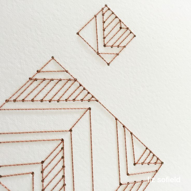 'Don't be a Dick' detail. Copper thread hand stitched on paper.