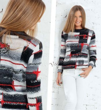 Пуловер пэчворк, фото