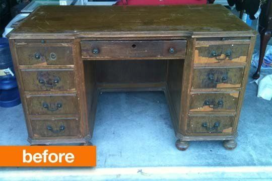 Restoring a Solid Wood Desk  home.made