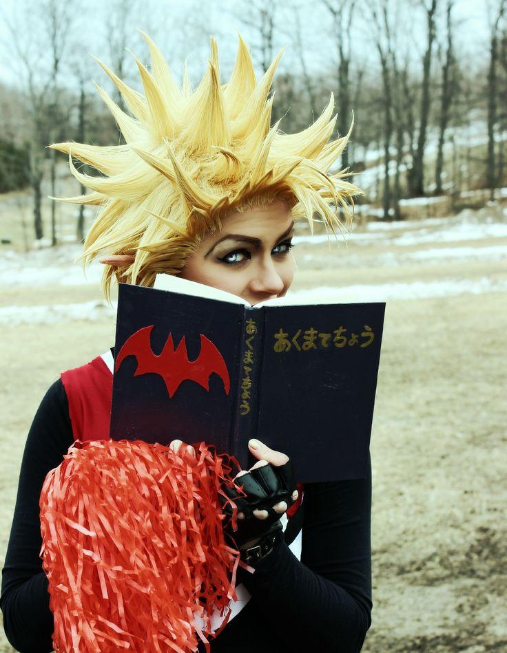 Hiruma Yoichi Genderbend Cosplay from Eyeshield 21. Ya-Ha! And my little Book of Threats.