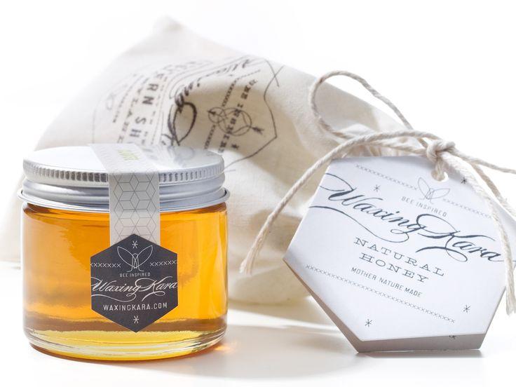 jar label with honey comb design inspiriation   Waxing Kara