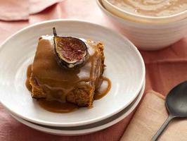 sticky fig pudding, by chuck hughes. he's my celebrity chef crush. and this cake is delicious for christmastime. my family loves it!