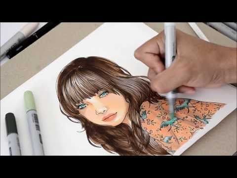 Tutorial - How to color with copics: coloring with elegance - This is an awesome video to watch and her coloring is inspiring!!
