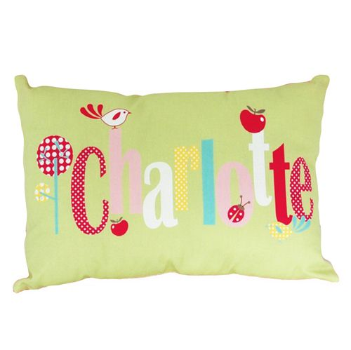 Apple Green and Pink Personalised Cushion for Girls Decor Prices start at $34