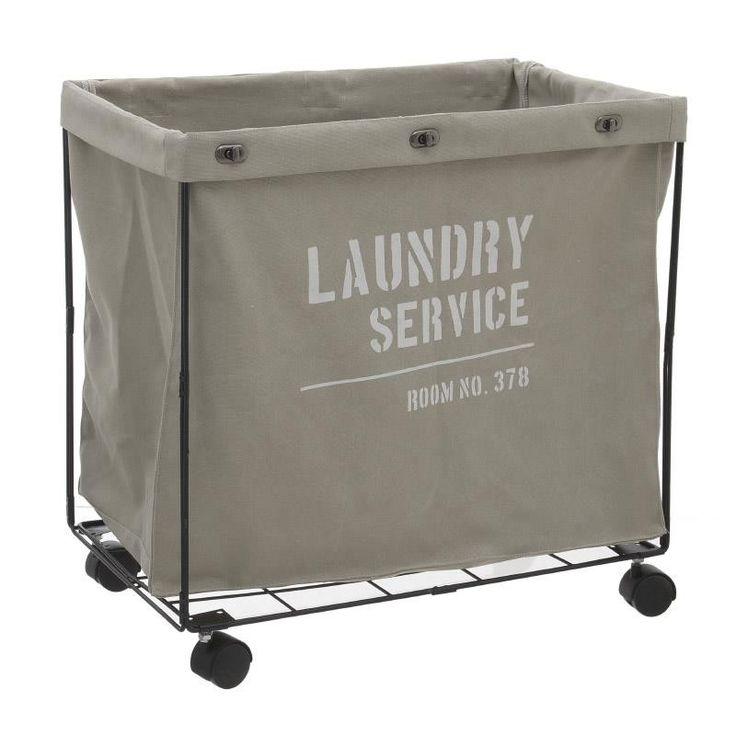 Fabric Laundry Basket - inart