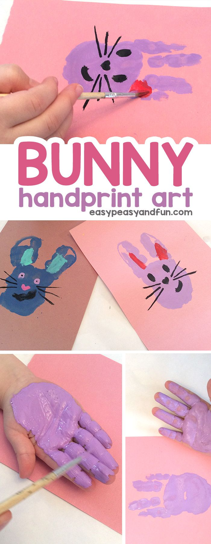 Bunny Handprint Art