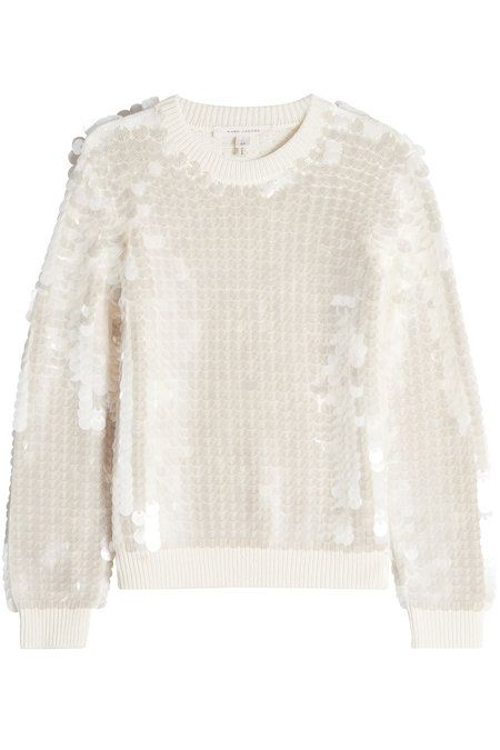 Merino Wool Pullover with Sequins  | Marc Jacobs