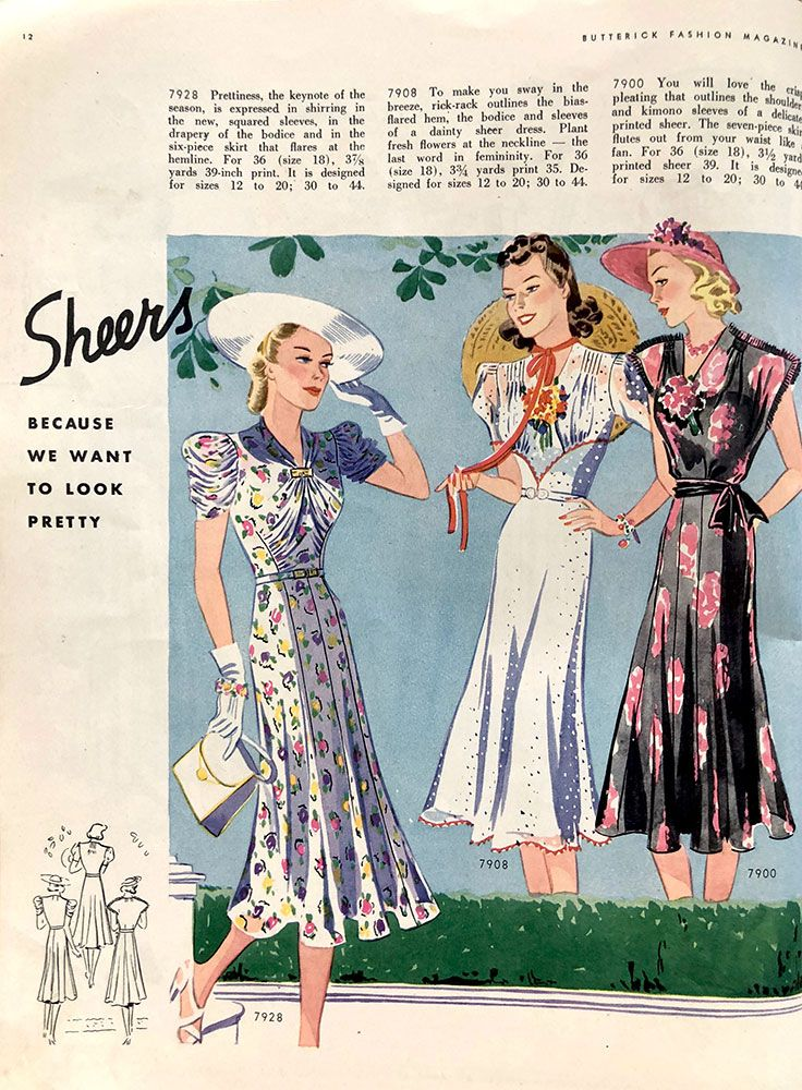 63fe413873a Butterick Sewing Pattern Book - Summer 1938 (Part 1