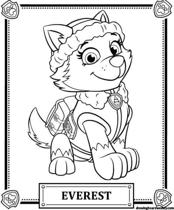 Coloring Page Paw Patrol Free Paw Patrol Canine Patrol In