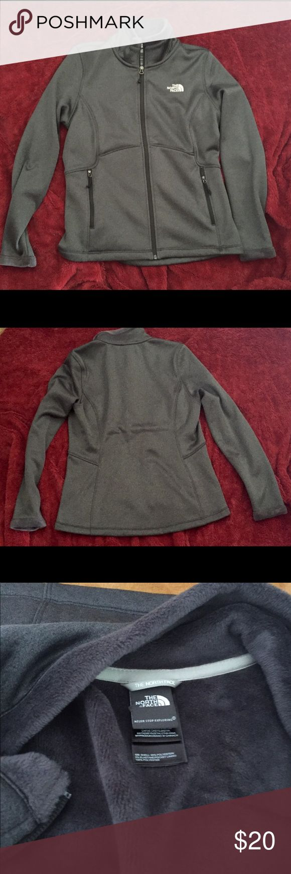 North Face ladies jacket  ( large) North Face ladies jacket (large) warm , great condition, dark gray. The North Face Jackets & Coats