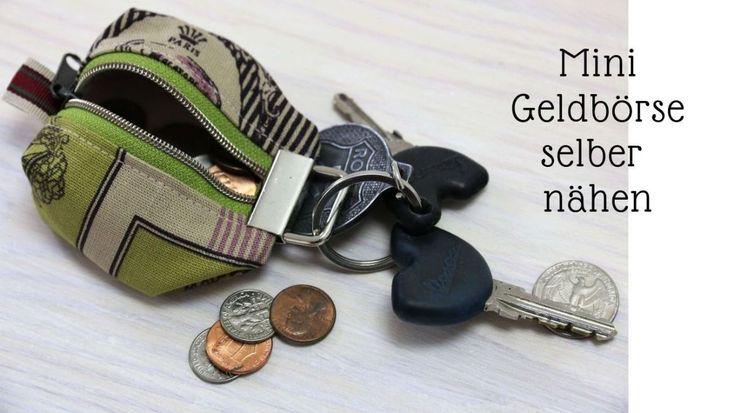 Einfach ohne Schnittmuster: Mini Geldbörse nähen