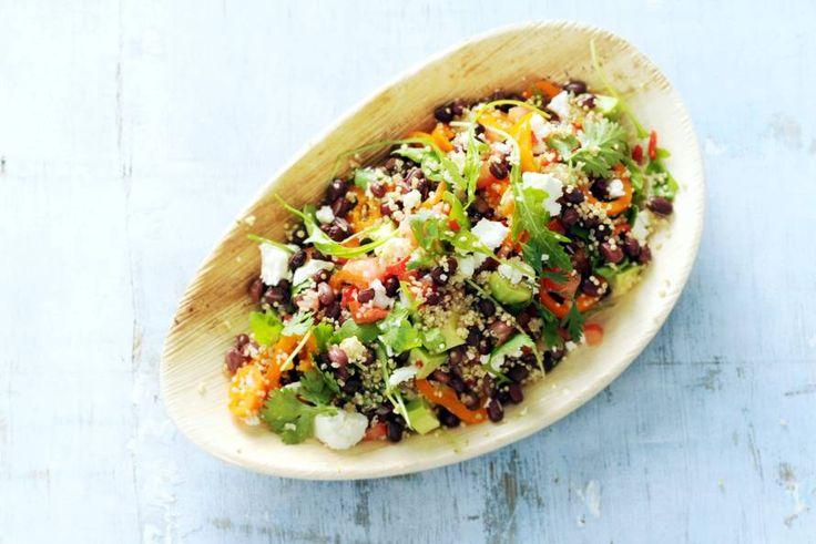 Kijk wat een lekker recept ik heb gevonden op Allerhande! Quinoasalade met adukibonen en feta