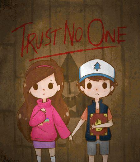 """Dipper e Mabel em um """"outro estilo"""" bem assustador! (E tem o Bill também!)"""