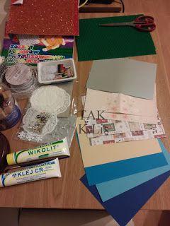 TAK - Twórczo Aktywnie Kreatywnie: Świąteczna kartka z choinką