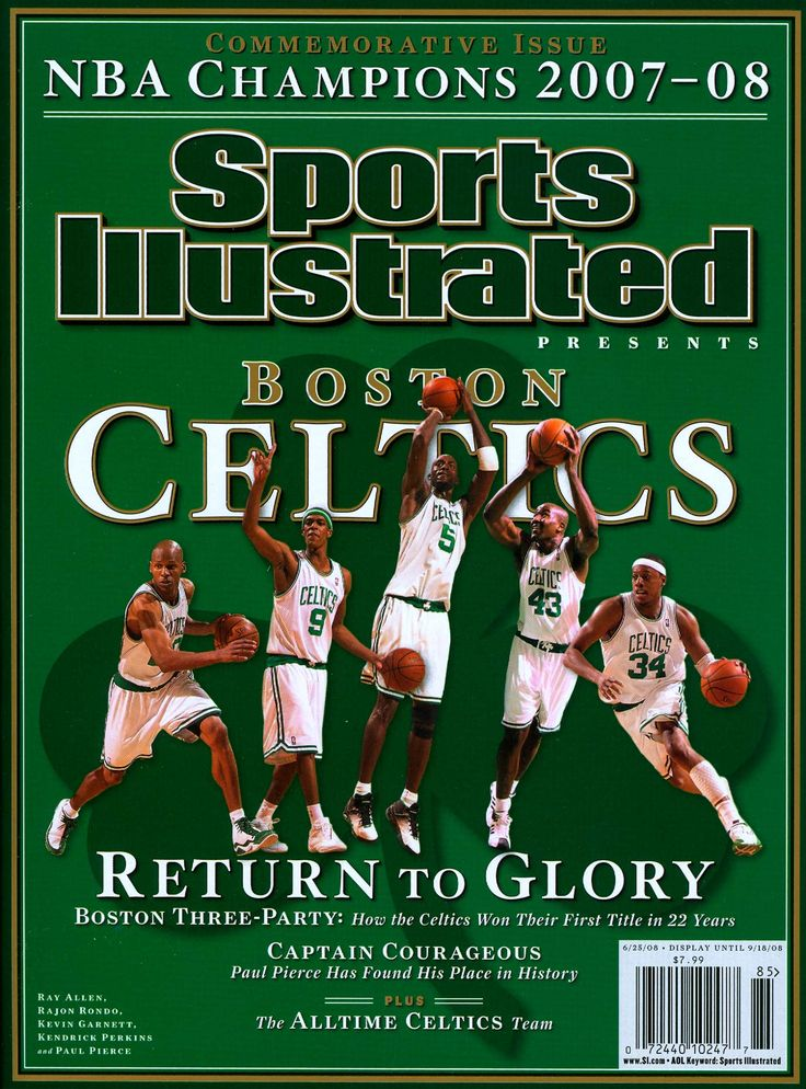 Members of the Boston Celtics are featured on the cover of Sports Illustrated. Description from damianstrohmeyer.com. I searched for this on bing.com/images
