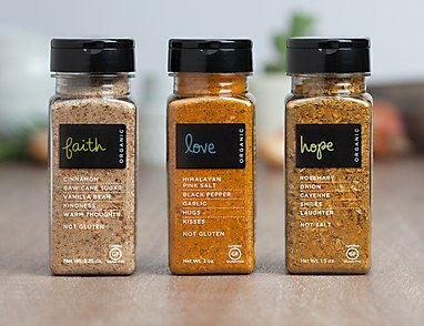 Virtuous Living spice packaging