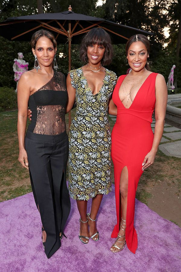 Halle Berry, Kelly Rowland, and host La La Anthony attend the VH1 'Dear Mama' taping on May 6, 2017 in Los Angeles, California