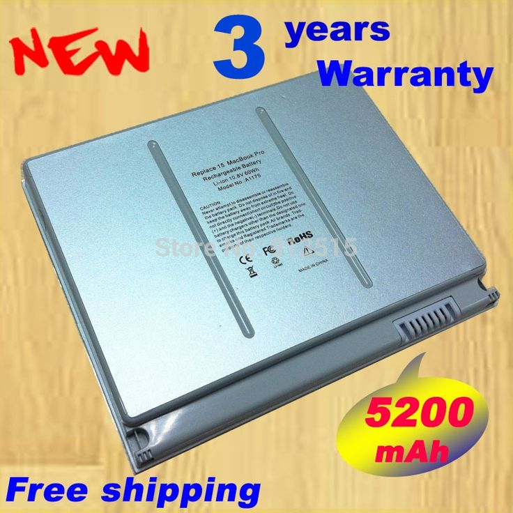 """Hot + new 6 Cell Laptop battery for Apple MacBook Pro 15"""" A1175 A1150 A1226 A1211 MA348G/A white Free shipping"""