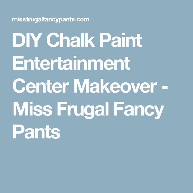 DIY Chalk Paint Entertainment Center Makeover - Miss Frugal Fancy Pants