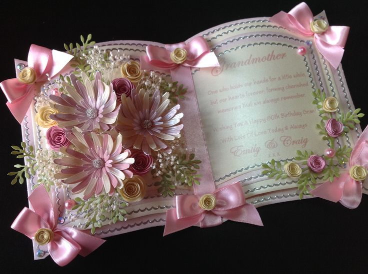BOOKATRIX BIRTHDAY CARD IN PINKS, Designed and Hand crafted by myself. Oopsadaisy Designs