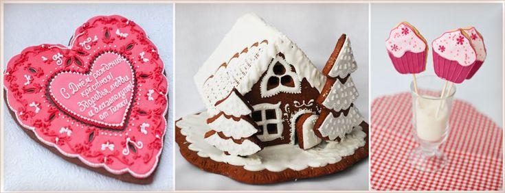 Сахарное печенье, медовые пряники, Киев. Фото пряников, расписные пряники и печенье, сладости на праздник, торты на заказ, капкейки, сахарные цветы. Пироженка.