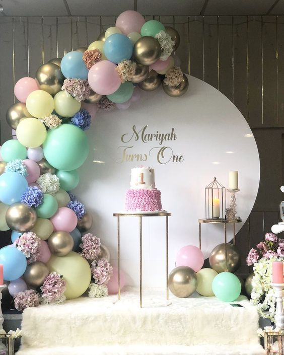"LUXE BALLOON CO OFFICIAL ?? on Instagram: ""Dreamy balloon installation for a first birthday. LUXE BALLOON X SKEVENTS For a happy ..."