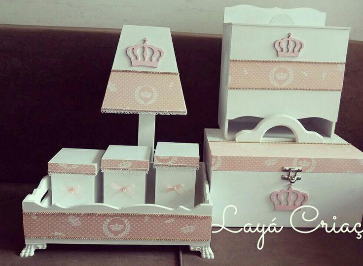 Kit higiene  mdf Kit higiene princesa