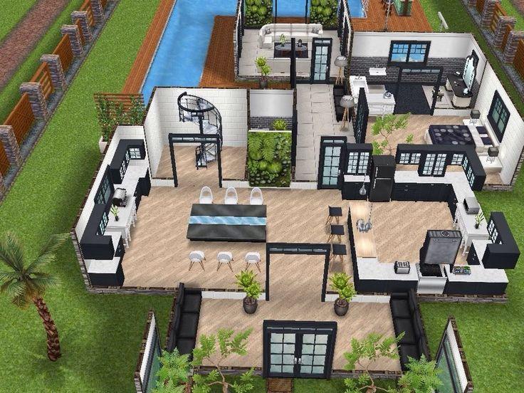 24 Sims 4 Garden Ideas | Denah rumah, Desain rumah