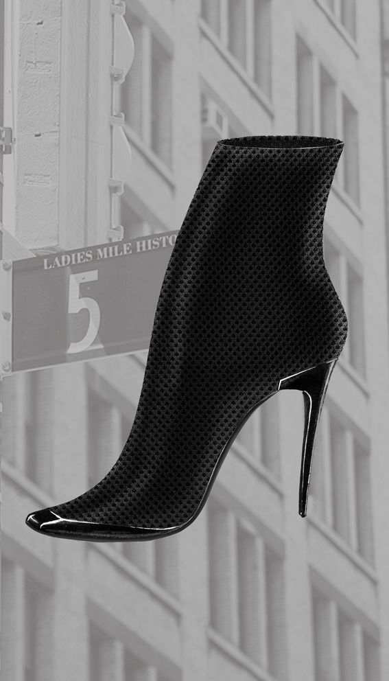 Airmesh and calfskin boot Liminale Nowhere design