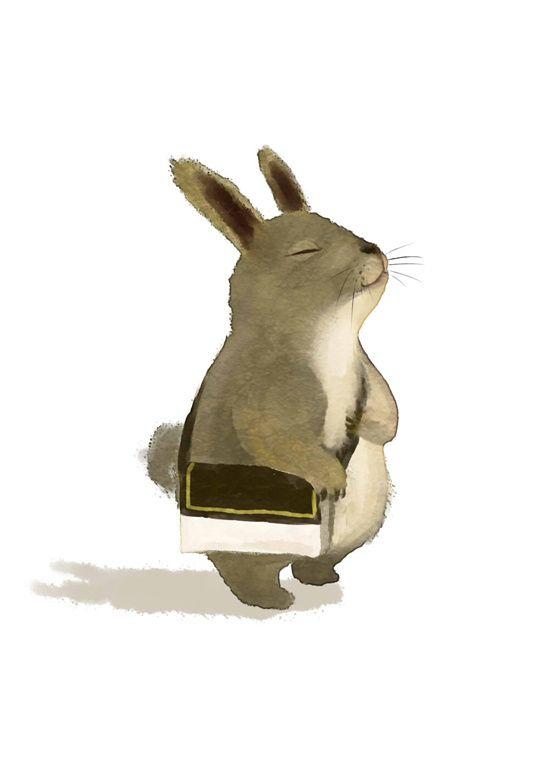 RP时好时坏的乌  的插画 兔.  Bunny
