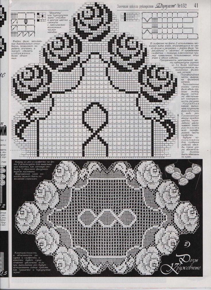 crochet pattern Doily