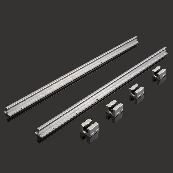 2Pcs SBR12-700mm Linear Bearing Slide Rails Linear Guide + 4Pcs SBR12UU Blocks For 3D Printer CNC