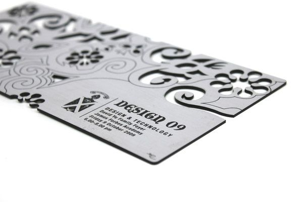Laser cut & etched business card