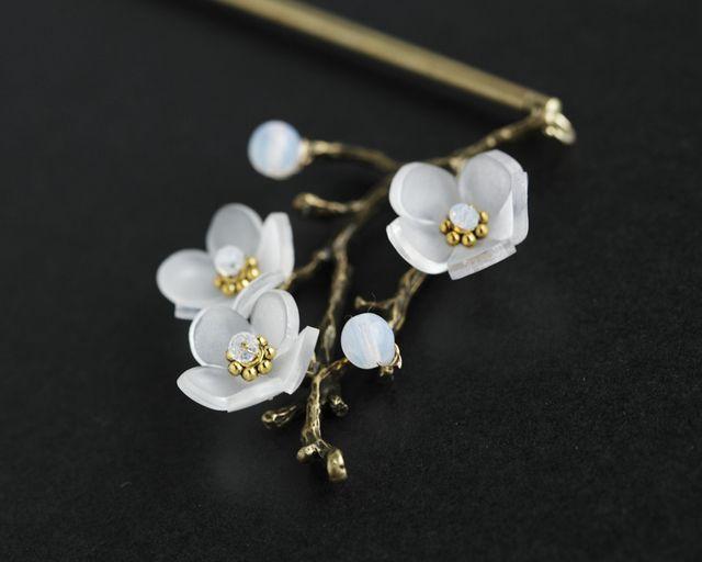 白梅の簪(しらうめのかんざし)