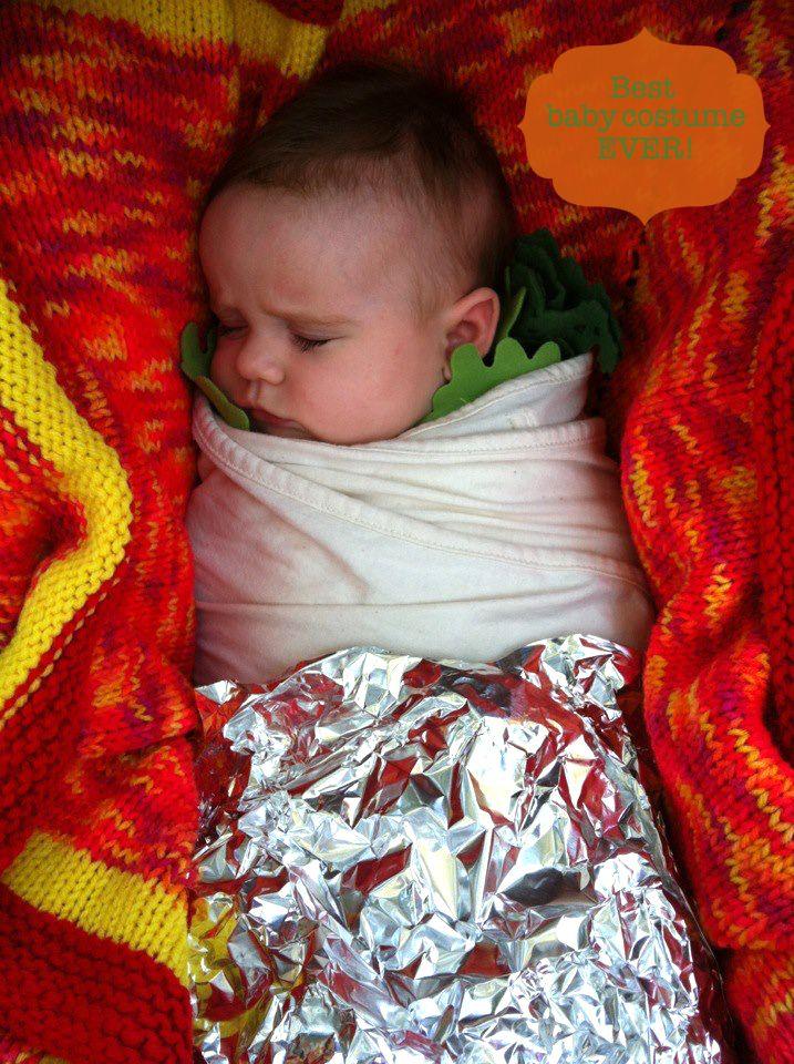 baby buritto costume | www.minipiccolini.com - Best Baby Costume Ever