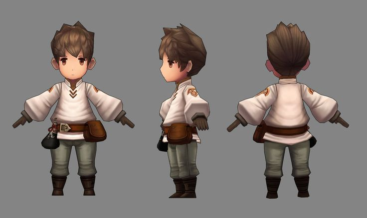 Low Poly Character by YEONDA on #DeviantART #lowpoly